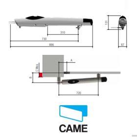Automatizare porti batante pentru canat pana la 1.8 m CAME, KIT AMICO